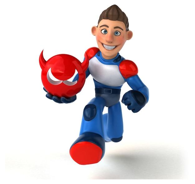 Ilustração de super-herói supermoderno