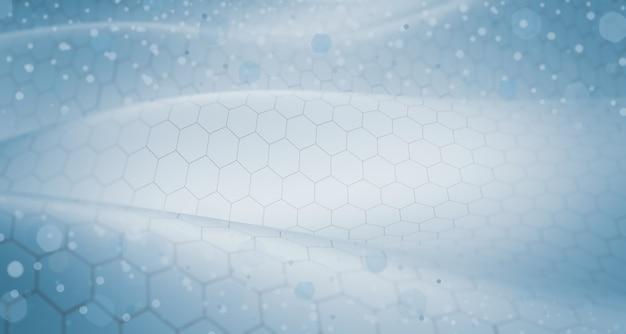 Ilustração de tecnologia, paisagem hexagonal abstrata, conceito de conectar um grande banco de dados ou rede