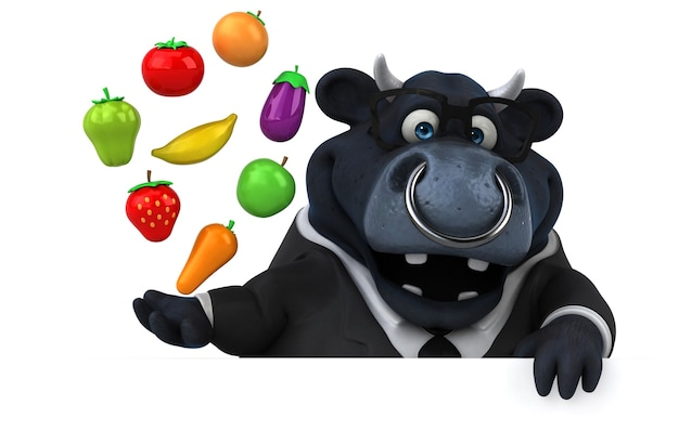 Ilustração de touro negro