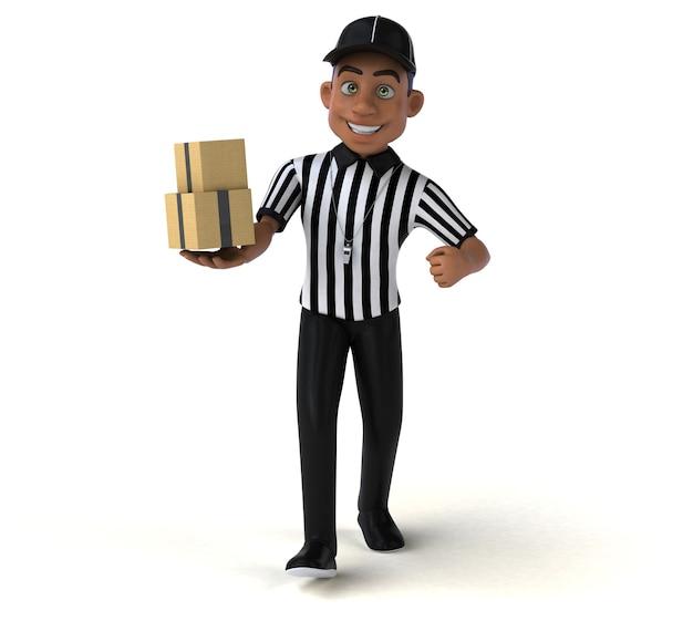 Ilustração de um árbitro americano