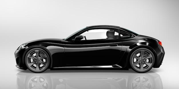Ilustração, de, um, carro preto