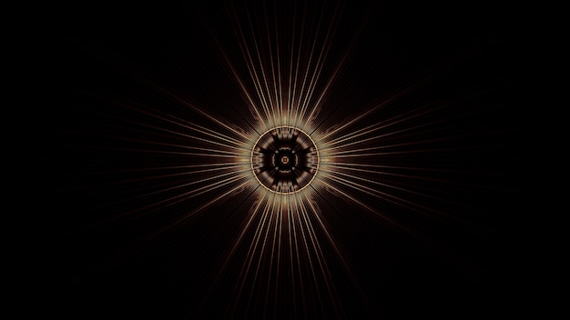 Ilustração de um círculo com efeitos abstratos de luz de néon - ótimo para um fundo futurista
