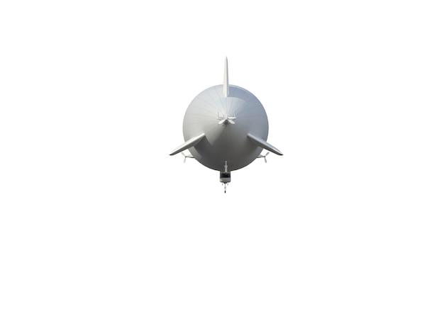 Ilustração de um dirigível, isolado, fundo branco