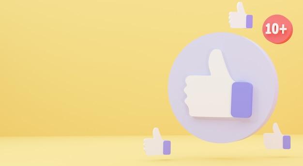 Ilustração de um ícone de notificação minimalista como isolado