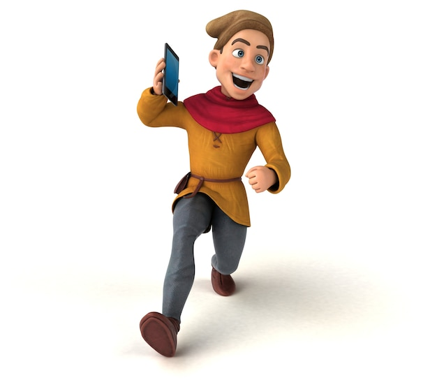Ilustração de um personagem histórico medieval