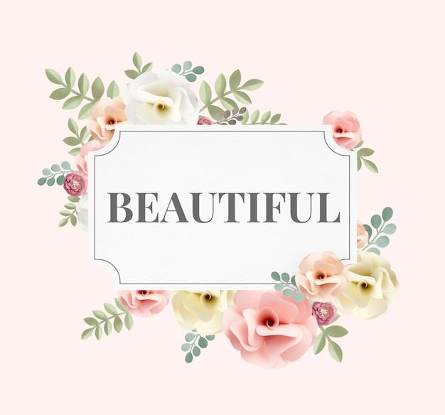 Ilustração de uma flor de beleza maravilhosa