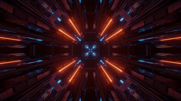 Ilustração de várias luzes próximas umas das outras fluindo em um único ponto
