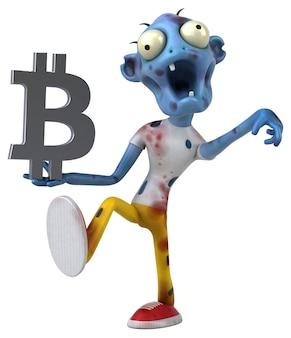Ilustração de zumbi e bitcoin