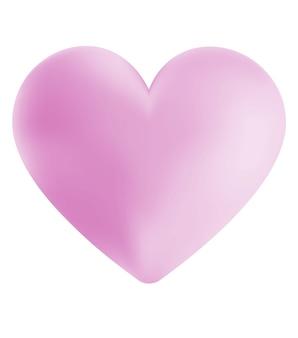 Ilustração digital de um coração rosa simples
