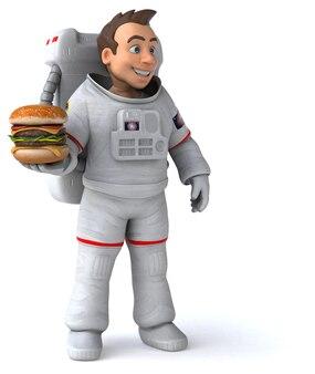 Ilustração divertida de astronauta