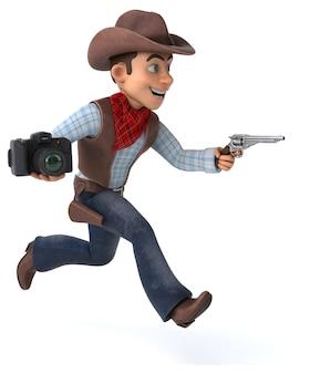 Ilustração divertida de cowboy