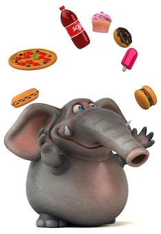 Ilustração divertida de elefante