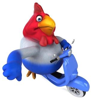 Ilustração divertida de frango