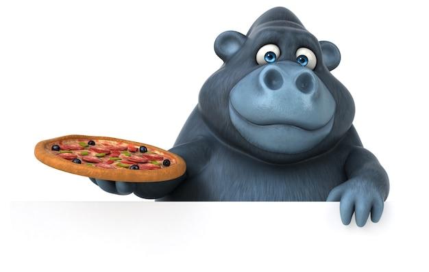 Ilustração divertida de gorila