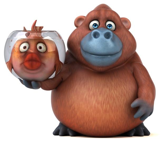 Ilustração divertida de orang outan