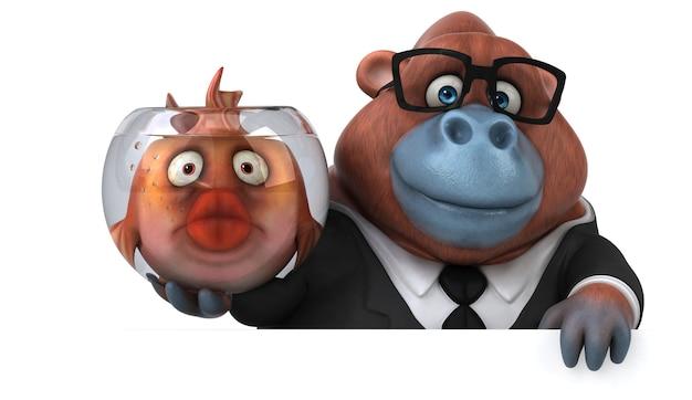 Ilustração divertida de orangotango