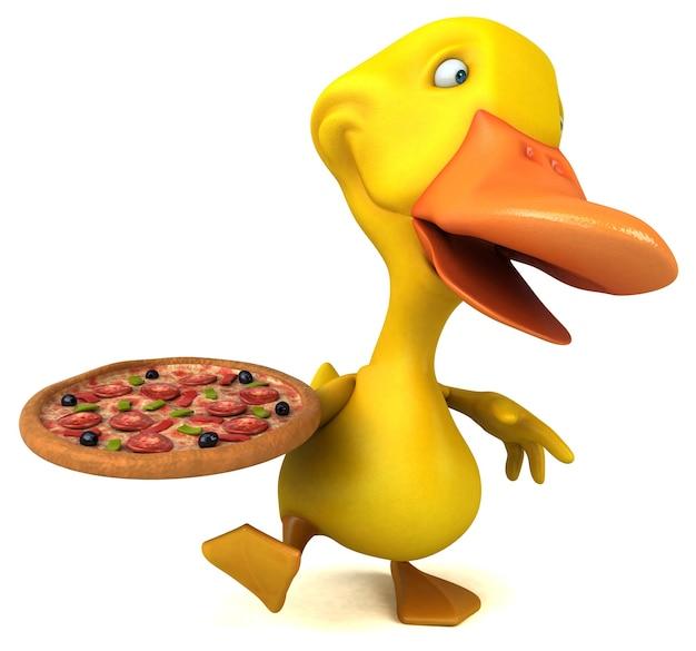 Ilustração divertida de pato