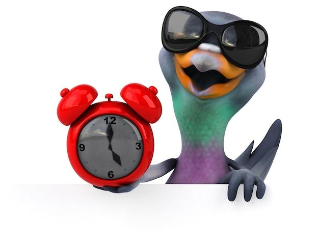 Ilustração divertida de pombo