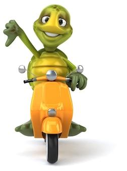 Ilustração divertida de tartaruga