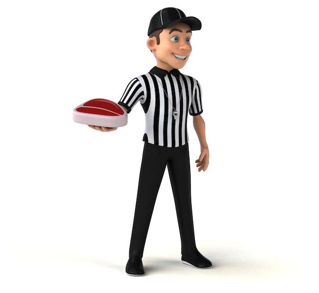 Ilustração divertida de um árbitro americano