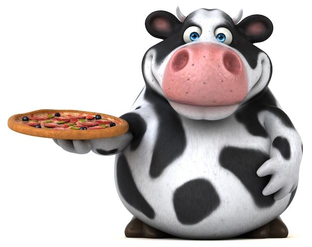 Ilustração divertida de vaca