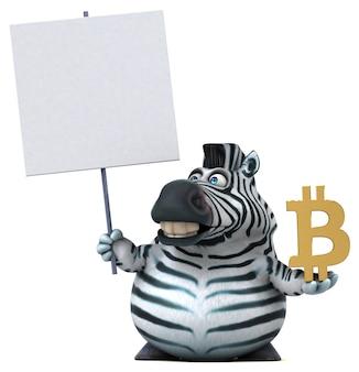 Ilustração divertida de zebra