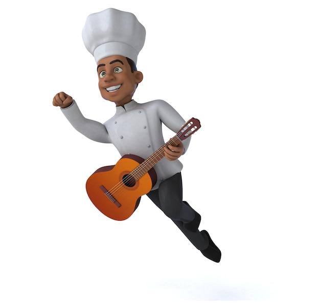 Ilustração divertida do chef