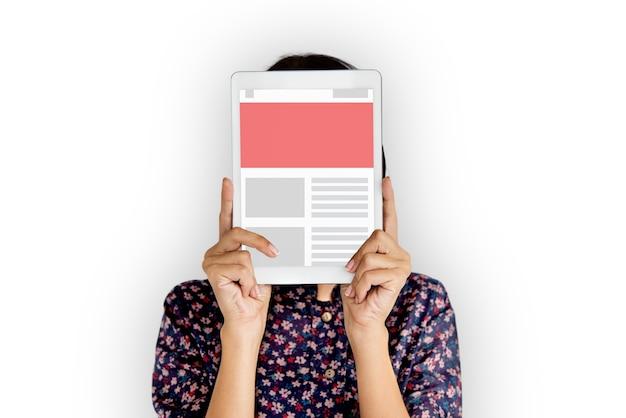 Ilustração do boletim informativo de tecnologia de comunicação digital