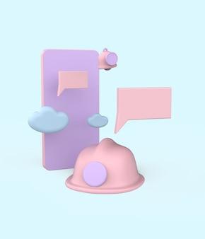 Ilustração do conceito de manutenção. 3d render premium photo