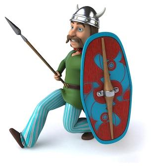 Ilustração do guerreiro gaulês