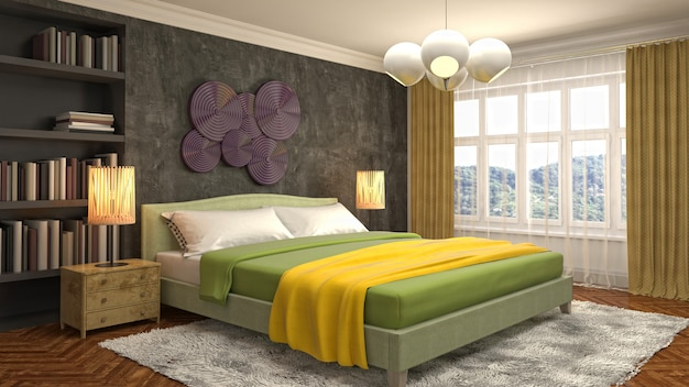 Ilustração do interior do quarto