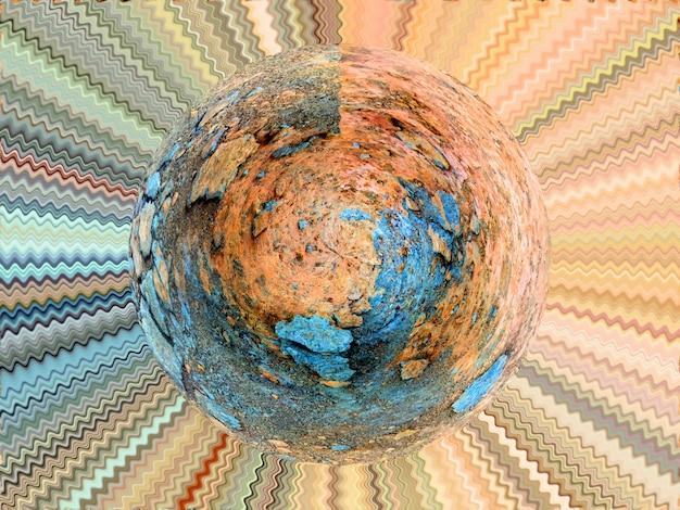 Ilustração do planeta abstrato