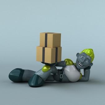 Ilustração do robô verde