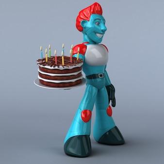 Ilustração do robô vermelho