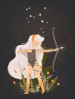 Ilustração do signo do zodíaco.
