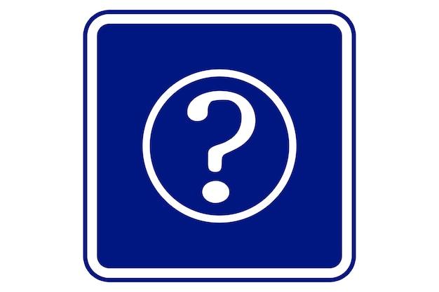 Ilustração do símbolo da pergunta, ajuda