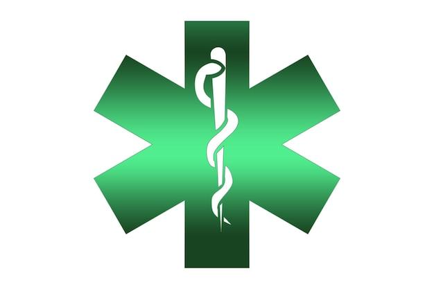 Ilustração do símbolo de saúde e farmácia com fundo branco