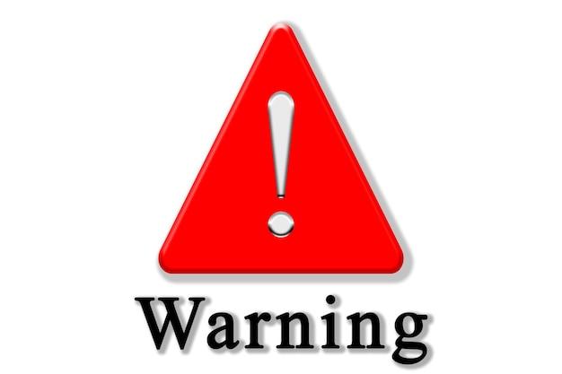 Ilustração do sinal de aviso e atenção