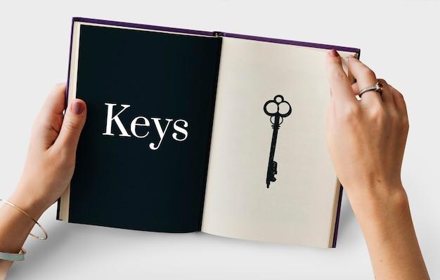 Ilustração do sistema de segurança de acessibilidade de chave