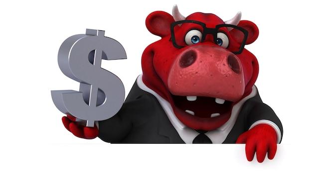 Ilustração do touro vermelho