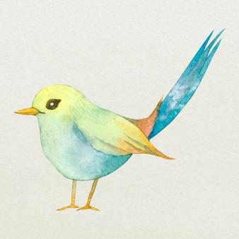 Ilustração em aquarela bonita do elemento de design de pássaro da páscoa
