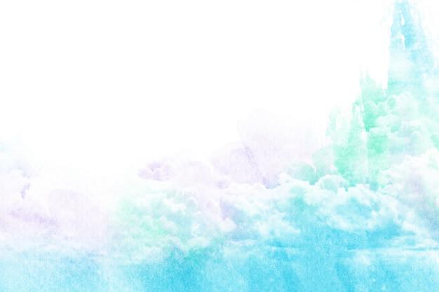 Ilustração em aquarela de nuvem.