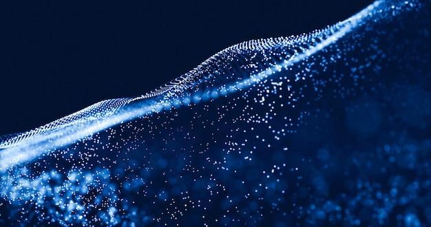 Ilustração futurista abstrata de tecnologia de dados