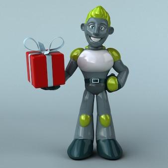Ilustração green robot