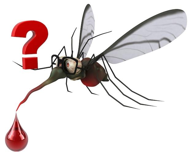 Ilustração mosquito 3d