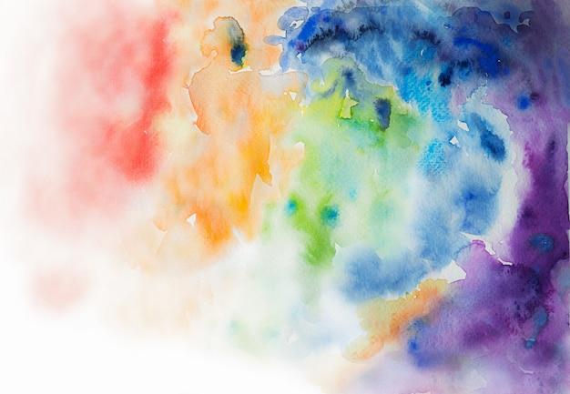Ilustração multicolorida abstração aquarela fundo arco-íris