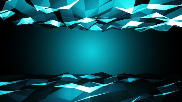 Ilustração multicolorida poligonal de luz, que consistem em triângulos. padrão triangular para seu design de negócios.