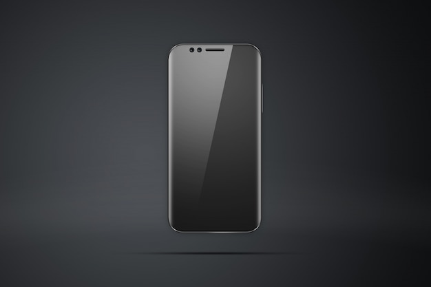 Ilustração realista com um escuro de picturea smartphonea