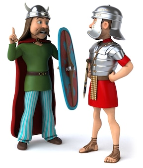 Ilustração romana e gaulesa