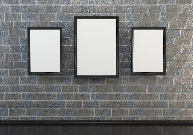 Ilustrações interiores abstratas 3d.